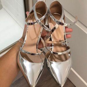 USED ONCE- Aldo Silver heels